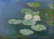 Water Lilies, Evening Effect painting reproduction, Claude Monet