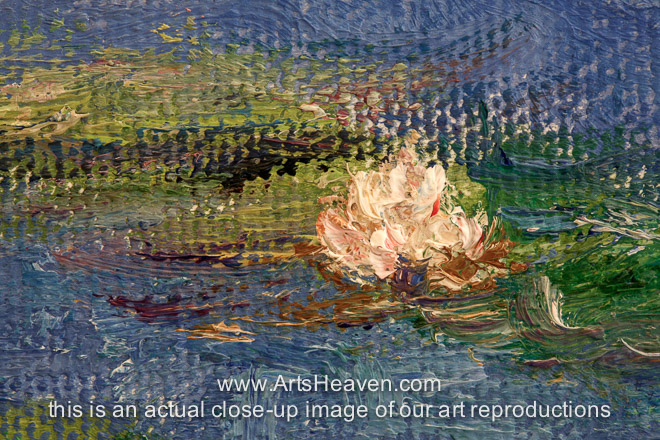 reproduction painting claude monet water lilies the