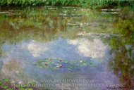 Water Lilies, the Clouds painting reproduction, Claude Monet