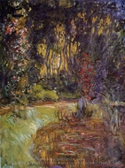 Water-Lily Pond at Giverny painting reproduction, Claude Monet