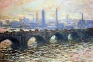 Waterloo Bridge, Misty Morning painting reproduction, Claude Monet