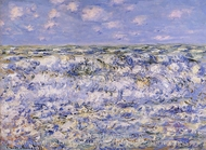Waves Breaking painting reproduction, Claude Monet