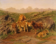 Weaning the Calves painting reproduction, Rosa Bonheur