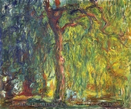 Weeping Willow painting reproduction, Claude Monet
