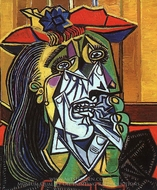 Weeping Woman painting reproduction, Pablo Picasso (inspired by)