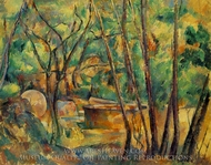 Well, Millstone and Cistern Under Trees painting reproduction, Paul C�zanne