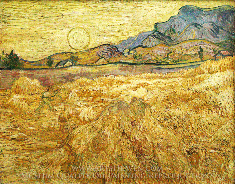 Reproduction Painting Vincent Van Gogh Wheat Field With