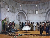 Whirling Dervishes painting reproduction, Jean-Leon Gerome