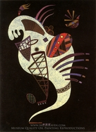 White Figure painting reproduction, Wassily Kandinsky