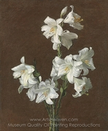 White Lilies painting reproduction, Henri Fantin-Latour
