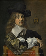 Willem Coenraetsz Coymans painting reproduction, Frans Hals