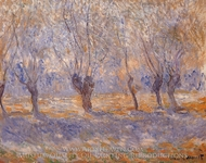Willows, Giverny painting reproduction, Claude Monet