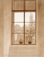 Window Looking Over the Park painting reproduction, Caspar David Friedrich