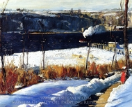 Winter Afternoon painting reproduction, George Bellows