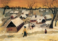 Winter in the Countryside painting reproduction, Catinca Popescu