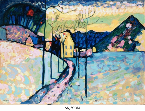 Wassily Kandinsky, Winter Landscape oil painting reproduction