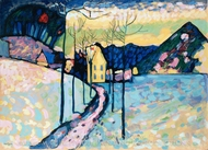 Winter Landscape painting reproduction, Wassily Kandinsky