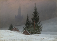 Winter Landscape with Church painting reproduction, Caspar David Friedrich