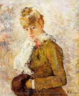 Winter (Woman with a Muff) painting reproduction, Berthe Morisot