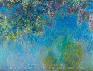 Wisteria painting reproduction, Claude Monet