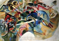 With a White Border painting reproduction, Wassily Kandinsky
