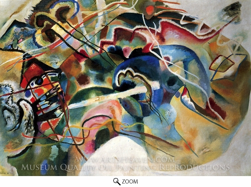 Wassily Kandinsky, With a White Border oil painting reproduction
