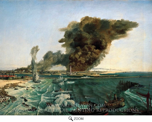 Richard Ernst Eurich, Withdrawal From Dunkirk, June 1940 oil painting reproduction