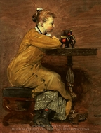 Woman and Elephant painting reproduction, Winslow Homer