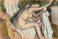 Woman Drying Her Arm painting reproduction, Edgar Degas