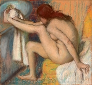 Woman Drying Her Foot painting reproduction, Edgar Degas
