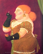 Woman in Profile painting reproduction, Fernando Botero
