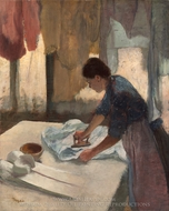 Woman Ironing painting reproduction, Edgar Degas