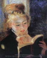 Woman Reading (The Reader) painting reproduction, Pierre-Auguste Renoir