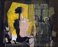 Woman Seated at an Easel painting reproduction, Georges Braque