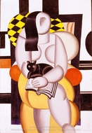 Woman with a Cat painting reproduction, Fernand Leger