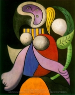 Woman with a Flower painting reproduction, Pablo Picasso (inspired by)