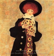 Woman with Black Hat painting reproduction, Egon Schiele