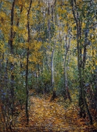 Wood Lane painting reproduction, Claude Monet