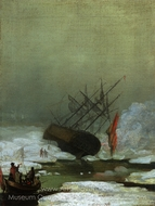 Wreck in the Sea of Ice painting reproduction, Caspar David Friedrich