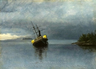 Wreck of the Ancon in Loring Bay, Alaska painting reproduction, Albert Bierstadt
