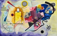 Yellow-Red-Blue painting reproduction, Wassily Kandinsky