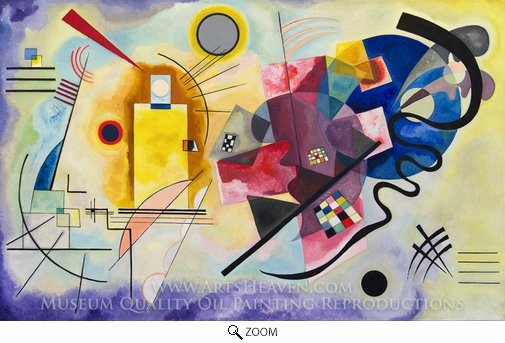 Wassily Kandinsky, Yellow-Red-Blue oil painting reproduction