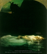 Young Christian Martyr painting reproduction, Paul Delaroche