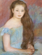 Young Girl painting reproduction, Pierre-Auguste Renoir