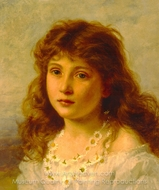 Young Girl painting reproduction, Sophie Gengembre Anderson