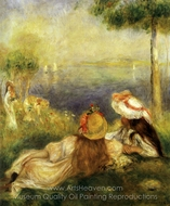 Young Girl at the Seaside painting reproduction, Pierre-Auguste Renoir