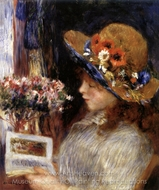 Young Girl Reading painting reproduction, Pierre-Auguste Renoir