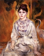 Young Girl with a Swan painting reproduction, Pierre-Auguste Renoir