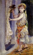 Young Girl with Falcon painting reproduction, Pierre-Auguste Renoir