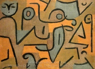 Young Moe painting reproduction, Paul Klee